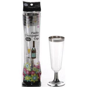 組み立て式のお洒落なシャンパンカップ。パーティや行楽に大活躍。 パーティの必需品 シャンパングラス1...