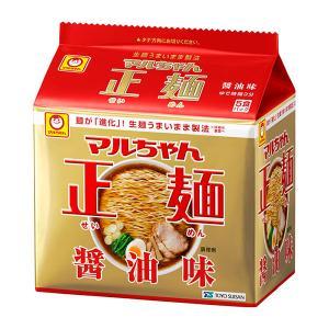 マルちゃん正麺 醤油味 1パック(5食入) 袋麺・インスタントラーメン