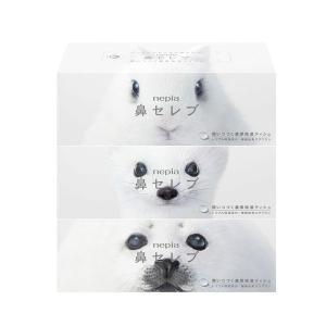 ティッシュペーパー 保湿 200組(3箱入) 鼻セレブティシュ 王子ネピア ティッシュペーパー