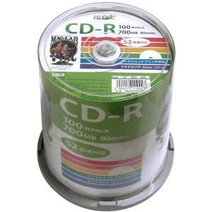 CD-R データ用 52倍速 ワイドプリンタブル スピンドル100枚 CD-R データ用 52倍速 ...