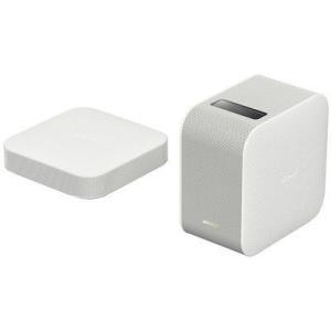 壁際やテーブルに置くだけで、どこにでも22〜80インチの映像を投影。バッテリーとスピーカーを内蔵しケ...