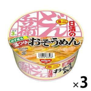 日清のどん兵衛 温つゆおそうめんミニ 3個 カップ麺