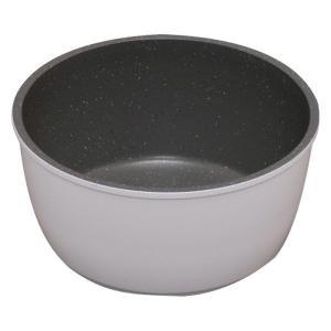 ダイヤモンドコートパンマーブル なべ18cm ホワイト ISN-P18(直送品) 鍋