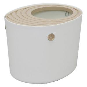 上から猫トイレ プチ ホワイト PUNT-430 アイリスオーヤマ(直送品)