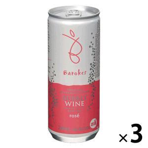 バロークス スパークリング 缶タイプ ロゼ ワイン 250ml×3缶 ロゼワイン
