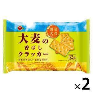 大麦の香ばしクラッカー 4枚×8袋 2袋 クラッカー