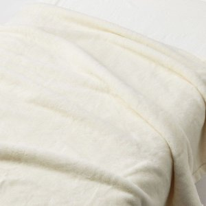 SALE/ 無印良品 吸湿極厚手アクリル混毛布・S/アイボリー 140×200cm 82221497...
