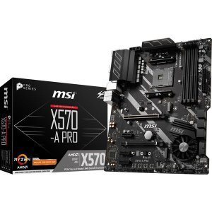 MSI AMD X570 ATX ゲーミングマザーボード X570-A PRO(直送品) その他 P...