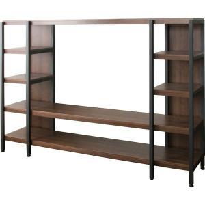 テレビのサイズや高さなどによって組立時に棚の位置を選べるフリーテレビラック。棚板(大)耐荷重:20k...