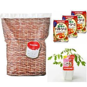 ミニトマトの苗+トマトの土+基本のトマトソース3缶が入ったセット商品です。トマトを育てる体験を通じて...