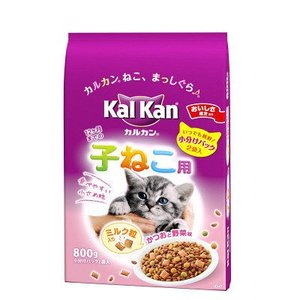 カルカン(kalkan)猫用 ドライ 12か月までの子ねこ用 かつおと野菜味ミルク粒入 800g 1...
