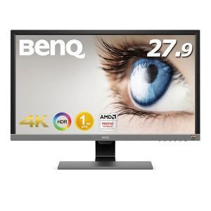 BenQ 27.9インチワイド ゲーミングモニター/液晶モニター メタリックグレー EL2870U ...
