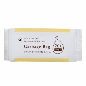 コンパクトタイプ ゴミ袋 20L 半透明 CS-23 1パック(50枚入) ゴミ袋(半透明)