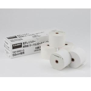 感熱紙/レジロール カシオ純正品 幅58×外径80mm 1箱(5巻入) TRP-5880X5