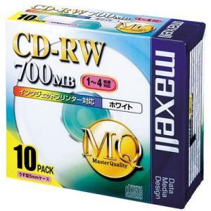 CD-RW 700MB マクセル CD-RW700MB 5mmプラケース CDRW80PW.S1P1...