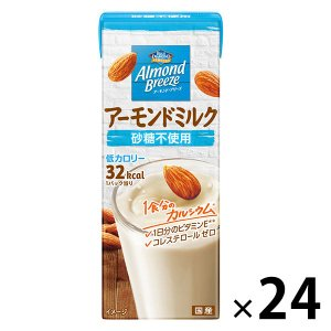アーモンド・ブリーズ 砂糖不使用 200ml 1箱(24本入) 豆乳・植物性ミルク