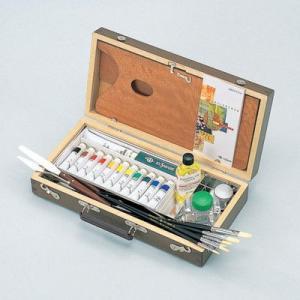 スケッチセットの内容: 画箱大半長型角丸(木製パレット付)、油絵具S-12、ネオペインティングオイル...
