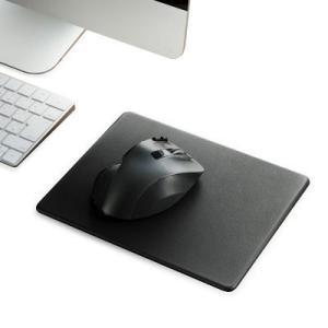 エレコム マウスパッド(大きめサイズ) ブラック ソフトレザータイプ MP-SL02BKは、手触りの...