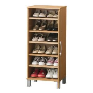 靴は最大12足収納可能。固定棚2枚・可動棚3枚付なので、靴の高さに合わせて棚の位置を変えることができ...