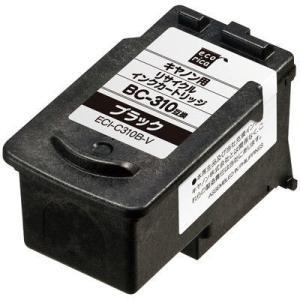 キヤノン用 エコリカ リサイクルインク ECI-C310B-V ブラック(BC-310互換) インク...