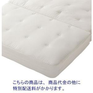 中材にポリエチレン立体構造、カバー表地にコットンを使用したマットレスです。適度な体圧分散と固さで、寝...
