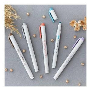 ふんわりやさしい色の蛍光ペンです。落ち着いたビンテージカラーを集めた5色セット。目がチカチカしない淡...