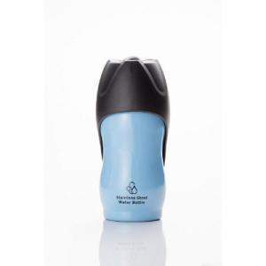 ループ ステンレスボトル M ブルー 水ボウル 給水器・水筒 (犬用)