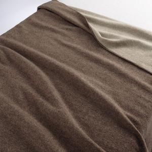 アウトレット/訳あり/わけあり 無印良品 ウォッシャブルウール混原毛色毛布・S/ブラウン 140×2...