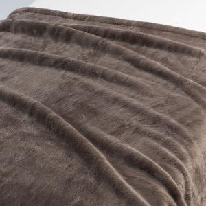 アウトレット/訳あり/わけあり 無印良品 吸湿極厚手アクリル混毛布・S/ブラウン 140×200cm...