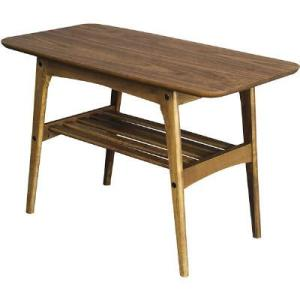 ほっこりとした温かみを感じさせる木目調のデザインのコーヒーテーブル。棚板付きで、コーヒーテーブルには...