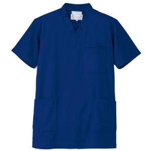 AITOZ(アイトス) ニットスクラブ(男女兼用) 半袖 ブルー 3L 861401-006-3L ...