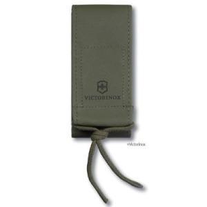 オリーブグリーンのナイフケース。 ビクトリノックスのミリタリー・ナイフケース。オリーブグリーンのナイ...