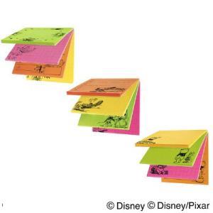 かわいいミッキー&フレンズ 、トイ・ストーリー、くまのプーさんのイラスト付箋3個セットです。目を引く...