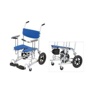 入浴用車椅子です。背フレームとシートの形状により、座るだけで安定した座位が得られます。座面が後傾し、...