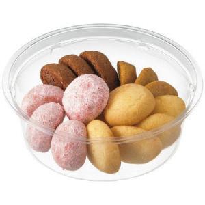 はかり売りや惣菜などに便利な汎用性の高い定番の透明容器。洋菓子からカットフルーツ、サラダなど、多用途...