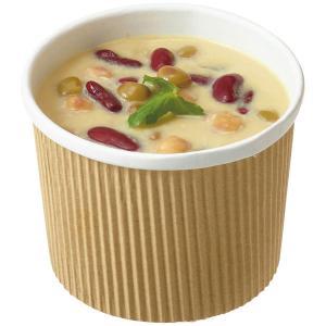 表面がエンボス加工で、断熱性が高く温かい料理を入れても持ちやすいスープカップです。スープ料理やデザー...