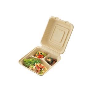 自然な風合いが好評の未晒しモールド容器。環境に配慮した麦が主原料の容器です。しっかりとした素材で電子...
