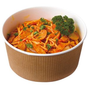 表面がエンボス加工で、断熱性が高く温かい料理を入れても持ちやすいボウル容器。スープ料理や丼ものに最適...