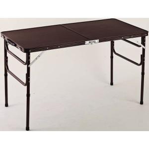 ハイテーブルとローテーブルの1台2役 軽くて丈夫なアルミ製折りたたみテーブル。折りたためばコンパクト...