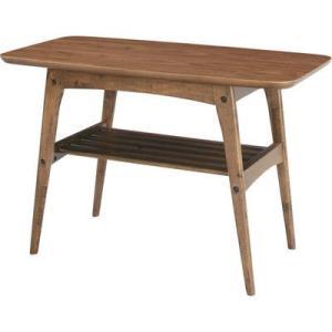 ミッドセンチュリー時代を感じさせるデザインと深みのある天然木ウォールナットのブラウンが映えるテーブル...