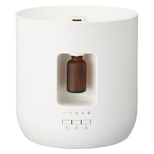 最大で約20時間、香りを楽しむことのできるアロマディフューザーです。エッセンシャルオイルの自動滴下や...