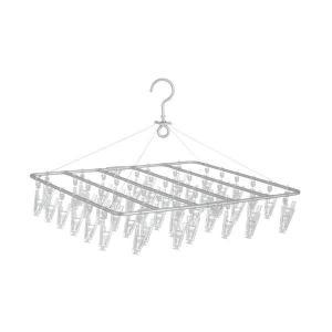 無印良品 アルミ角型ハンガー 中・46ピンチ/約幅49×奥行45cm 02578398 良品計画 洗...