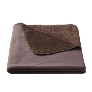 アウトレット/訳あり/わけあり 無印良品 レーヨン混フリース羽織る毛布/杢ブラウン 100×140c...