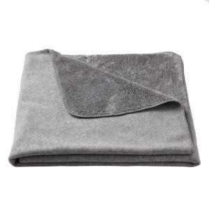 アウトレット/訳あり/わけあり 無印良品 レーヨン混フリース羽織る毛布/杢グレー 100×140cm...