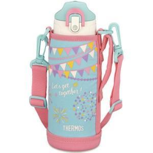 保温・保冷対応のステンレスボトルにもなる2ウェイボトル。ポーチには肩にやさしい幅広のストラップと長さ...