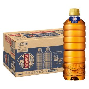 六条麦茶 660ml ラベルレスボトル 1箱(24本入) 麦茶(ペットボトル)