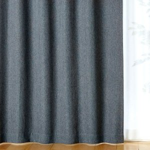 SALE/ 無印良品 ポリエステルドビー織(防炎・遮光性)プリーツカーテン/チャコール 幅100×丈...