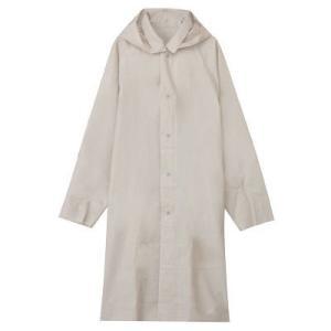 袖や裾にあるガイドラインを目安にハサミなどで長さを変えられるレインコートです。 袖や裾にあるガイドラ...