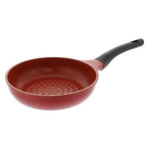 表面の凹凸により、食材が直接当たる部分が少なくなるため食材がこびりつきにくい。内面ふっ素樹脂加工+マ...