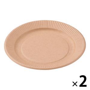 自然な風合いの未晒しの紙皿。落ち着いた印象の濃色です。表面にラミネート加工がされているので耐油性が高...